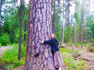 Jamie n Cedar tree- hug